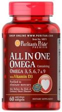 Suplement diety Puritan'S Pride All In One Omega Blend 3,5,6,7 & 9 Plus Vitamin D3 60kaps - zdjęcie 1