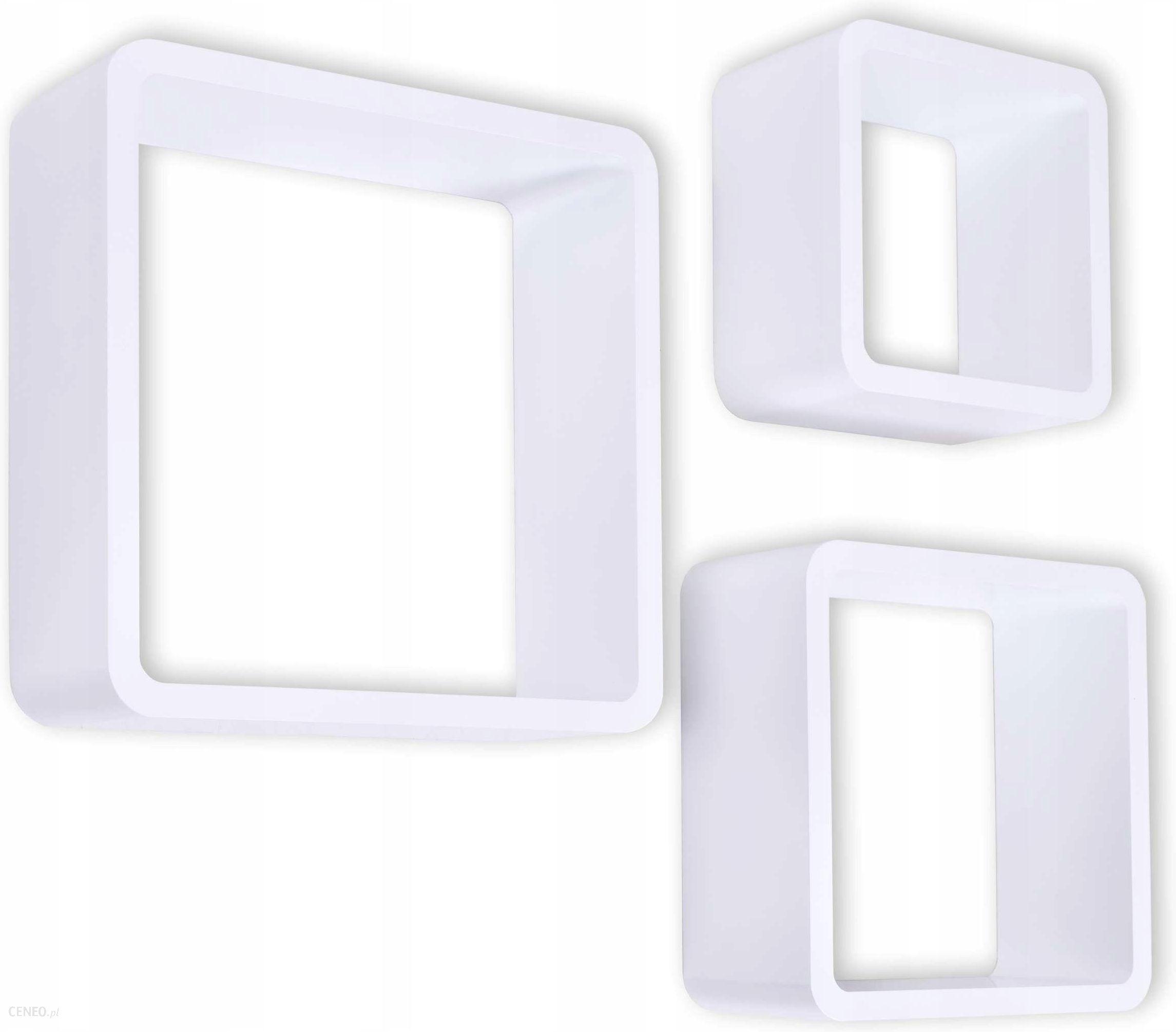Gockowiak Półki Wiszące Cube 3szt Białe