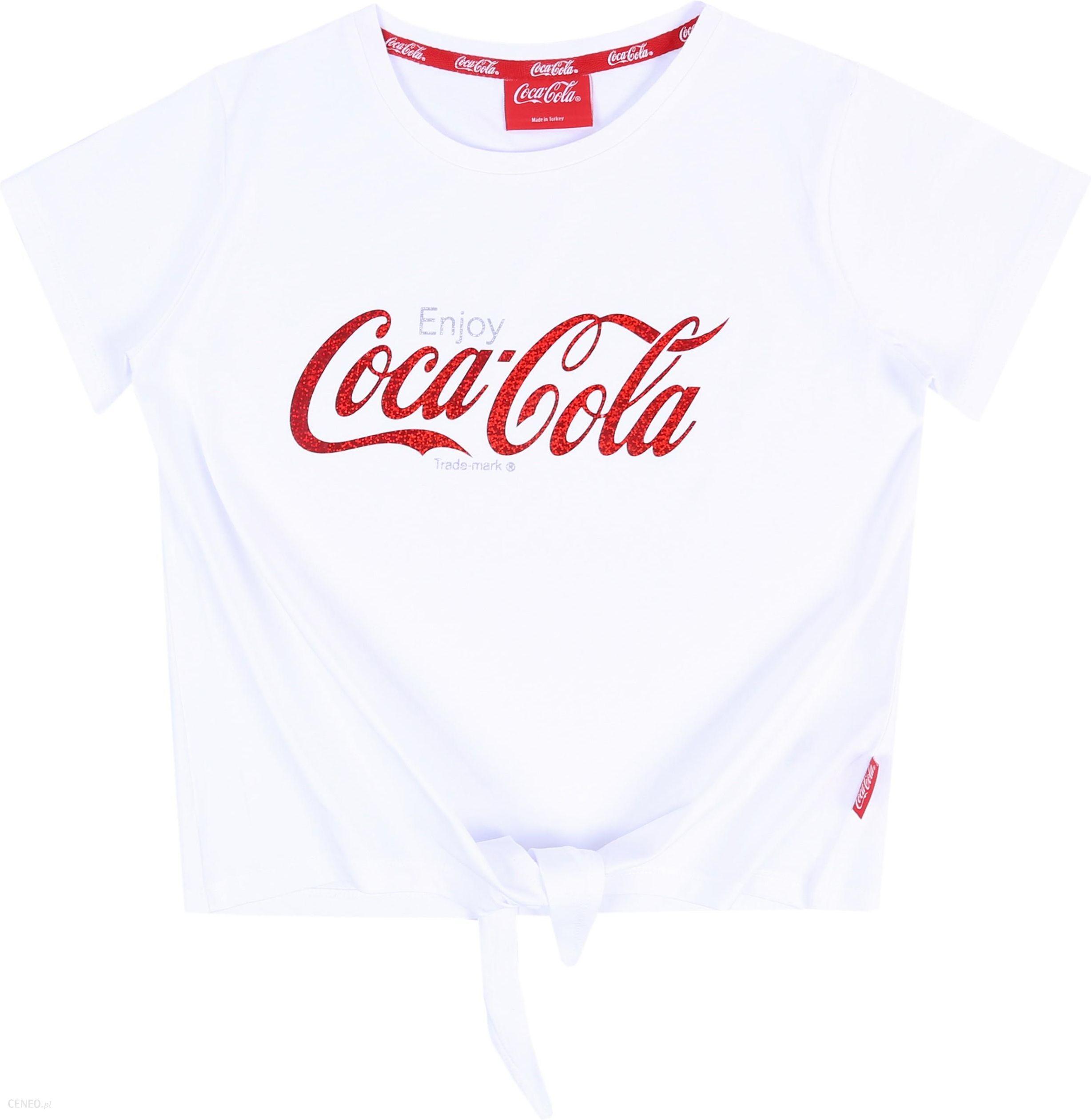 Biała koszulka, t shirt Coca Cola 13 14 lat 164 cm Ceny i opinie Ceneo.pl