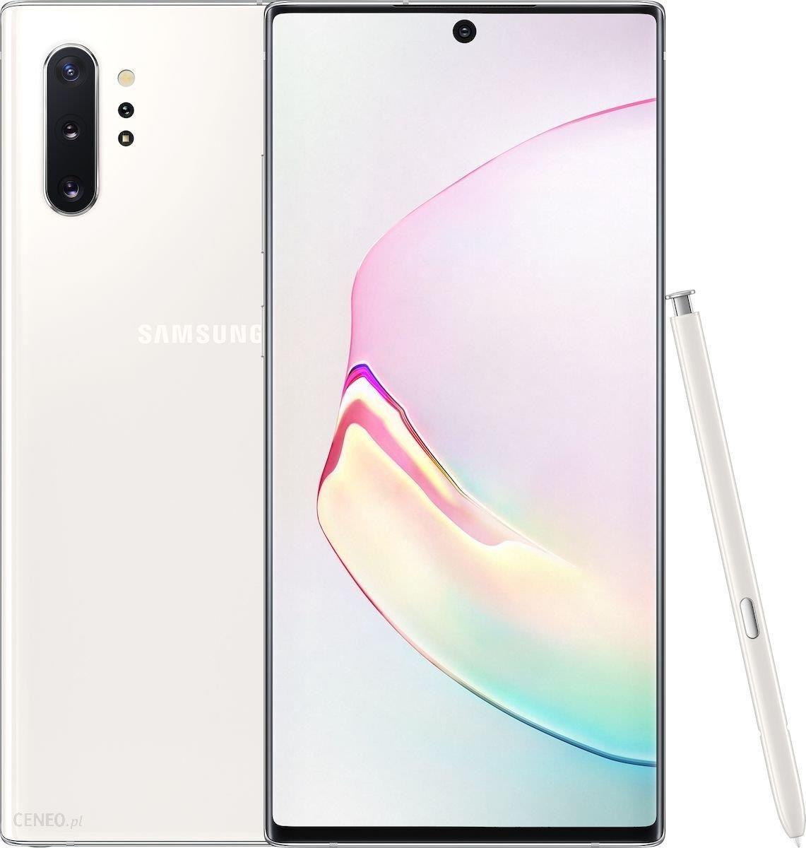 Samsung Galaxy Note 10 Plus Sm N975 12 256gb Aura White Cena Opinie Na Ceneo Pl