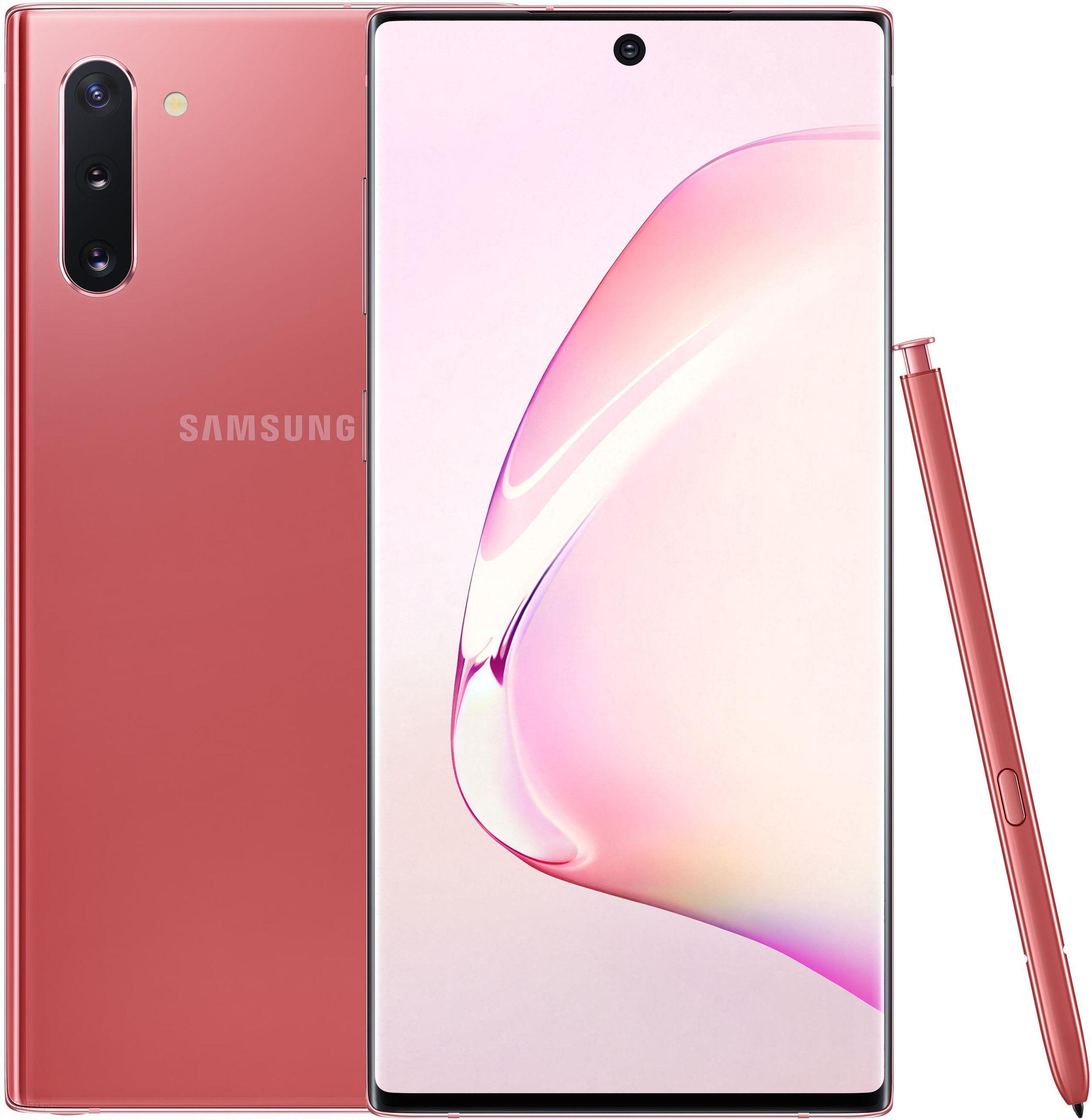 Samsung Galaxy Note 10 Sm N970 8 256gb Aura Pink Cena Opinie Na Ceneo Pl