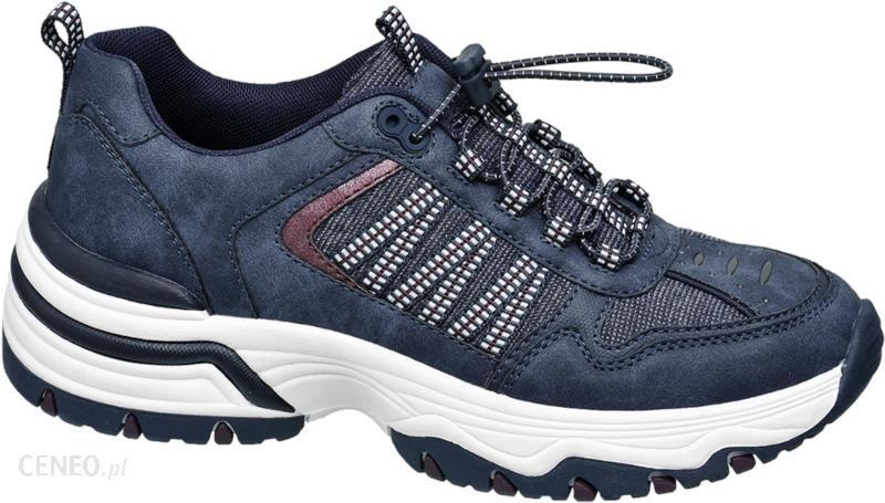 sneakersy damskie Graceland niebieskie Buty sportowe damskie niebieskie w Deichmann