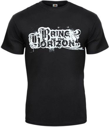 MERCHANDISE ROCK'N'ROLL MANIA KOSZULKA BRING ME THE HORIZON - LOGO - Ceny i opinie T-shirty i koszulki męskie ZGFZ
