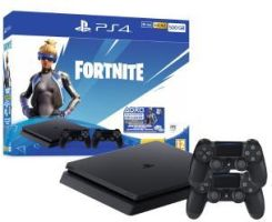 Sony PlayStation 4 Slim 500GB + Fortnite Neo Versa Bundle + 2 pady