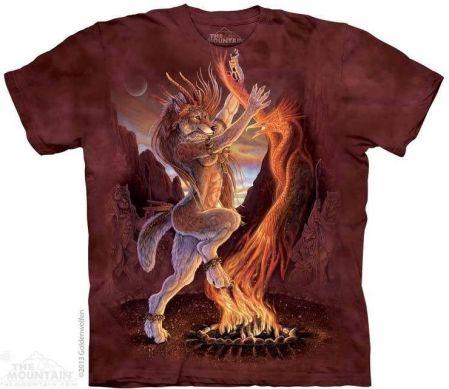THE MOUNTAIN KOSZULKA - SACRED FIRE, BARWIONA - Ceny i opinie T-shirty i koszulki męskie AMWT
