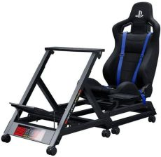 Fotel dla gracza Next Level Racing GTtrack Racing Simulator Cockpit Blue - zdjęcie 1