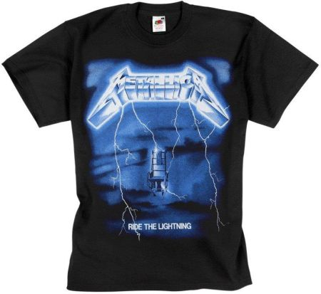 MERCHANDISE ROCK'N'ROLL MANIA KOSZULKA METALLICA - RIDE THE LIGHTNING - Ceny i opinie T-shirty i koszulki męskie WZHH