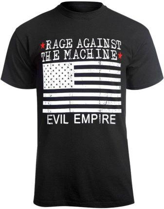 MERCHANDISE ROCK'N'ROLL MANIA KOSZULKA RAGE AGAINST THE MACHINE - EVIL EMPIRE - Ceny i opinie T-shirty i koszulki męskie OHBO