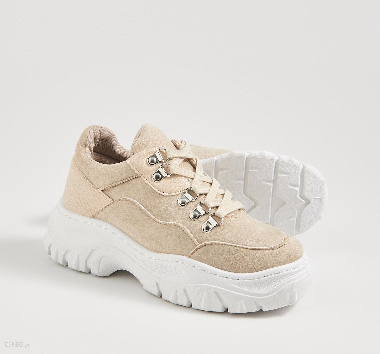 Sinsay Buty sneakersy na platformie Jasny szary Ceny i
