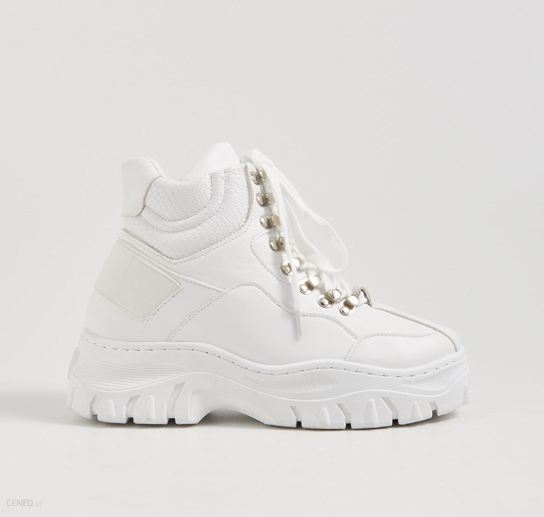 Sneakersy za kostkę Reserved Sneakersy chłopięce białe