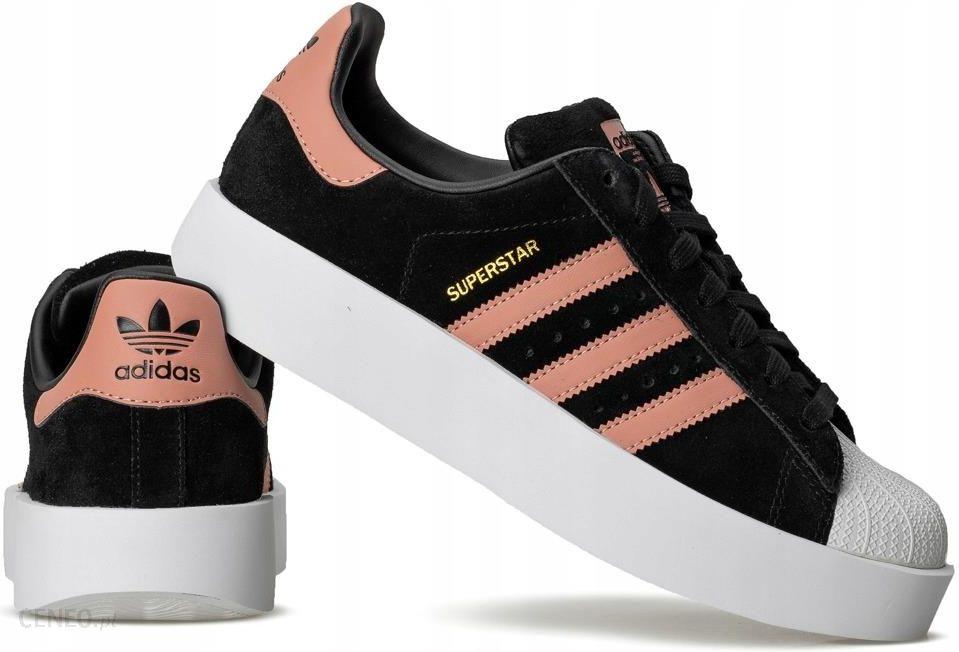 Czarne Skórzane Buty Damskie Trampki Adidas rozmiar 36