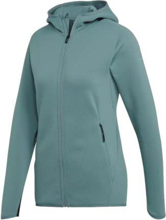 Bluza damska adidas w essentials linear fz hd szara ei0660