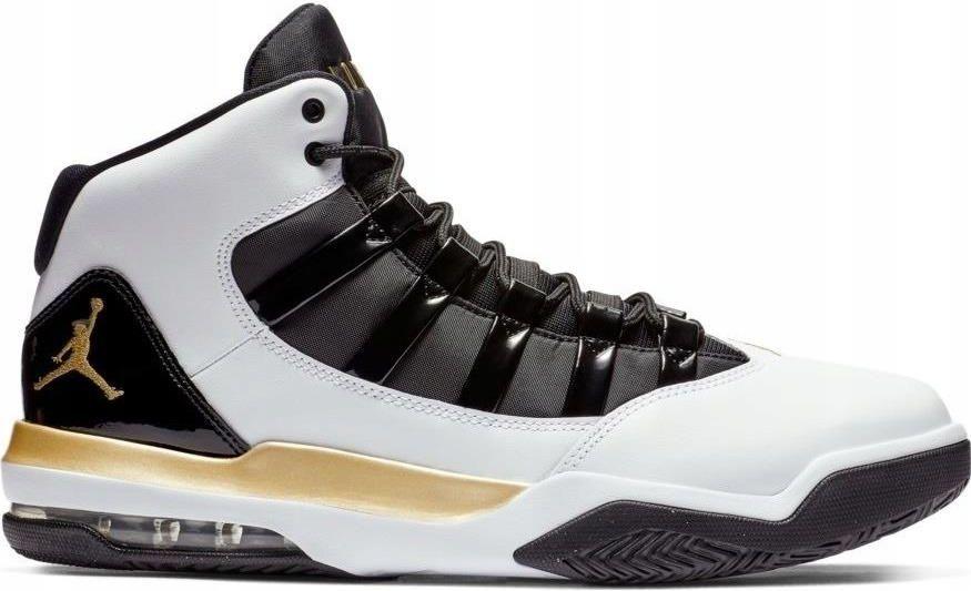 45,5 Buty Jordan Max Aura AQ9084 107 Białe Złote Ceny i opinie Ceneo.pl