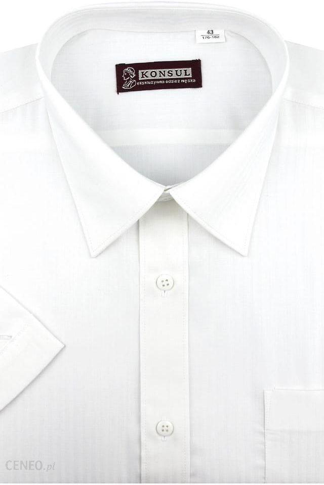 Koszula Męska Konsul gładka oliwkowa na długi rękaw w kroju