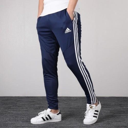 moda designerska eleganckie buty Zjednoczone Królestwo Spodnie Adidas dresy rurki zwężane granatowe DT5174