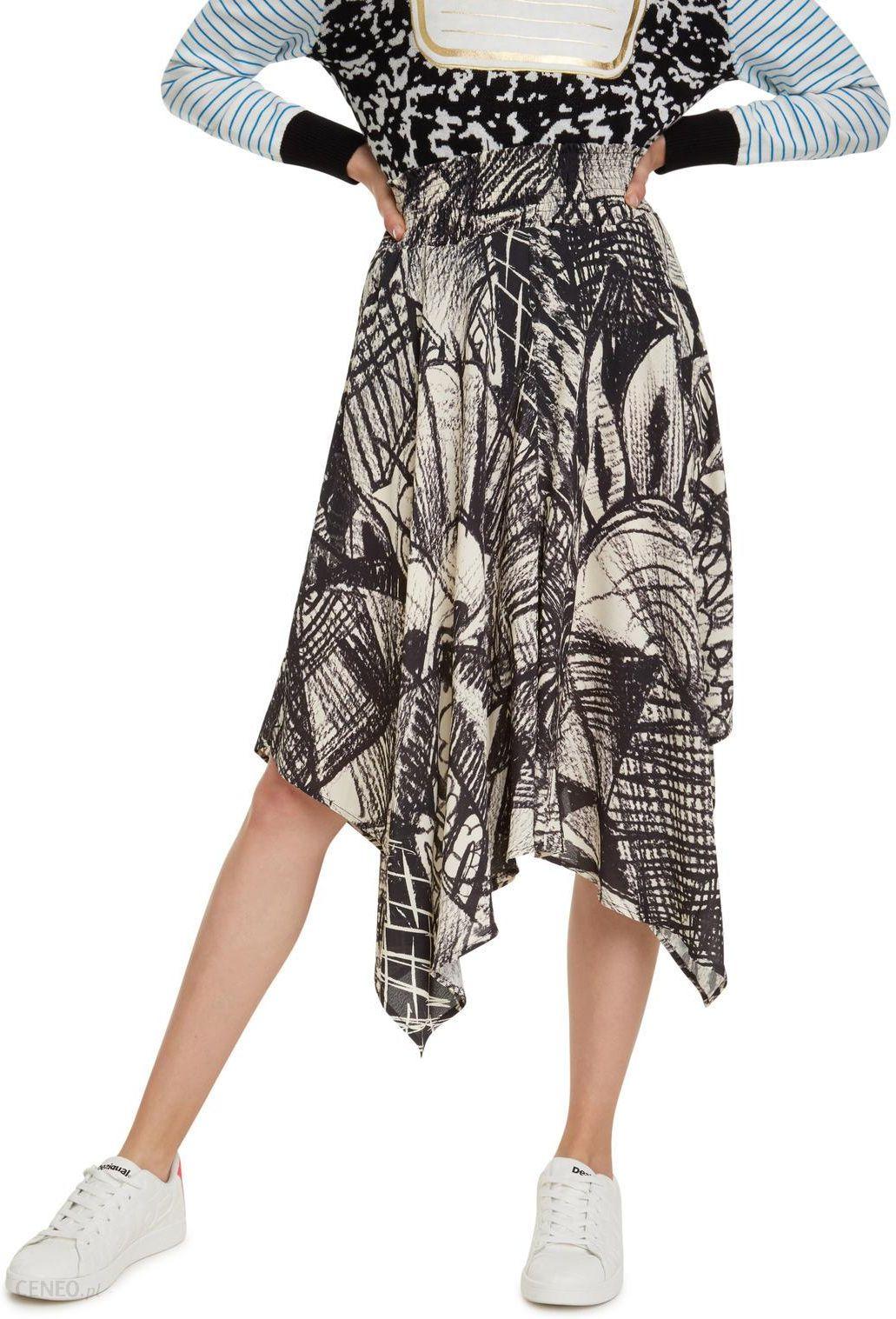 Wzorzysta mini spódnica z falbanami (u) JOYFUL radość