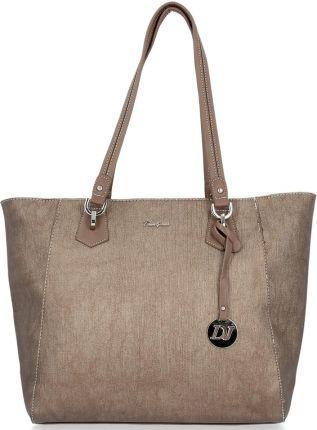 Brązowa torebka ze skóry licowej CALICH Modne torebki