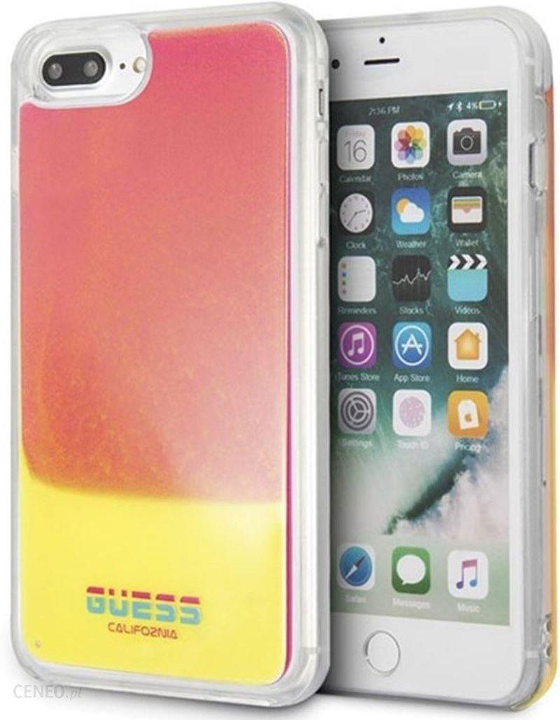 Guess GUHCI8LGLCPI iPhone 78 Plus różowypink hard case California Glow in the dark (iphone8plus) Etui na telefon, ceny i opinie Ceneo.pl
