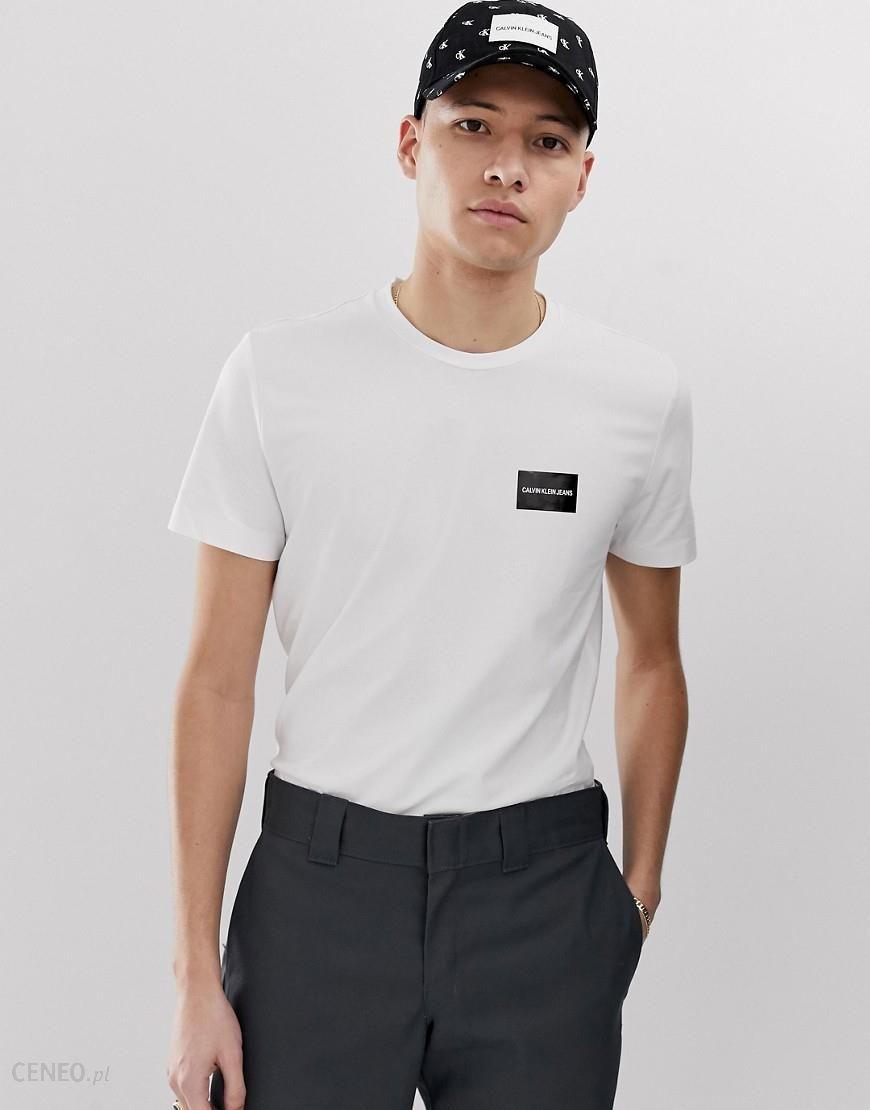 Calvin Klein Jeans logo slim fit stretch t shirt Multi Ceneo.pl