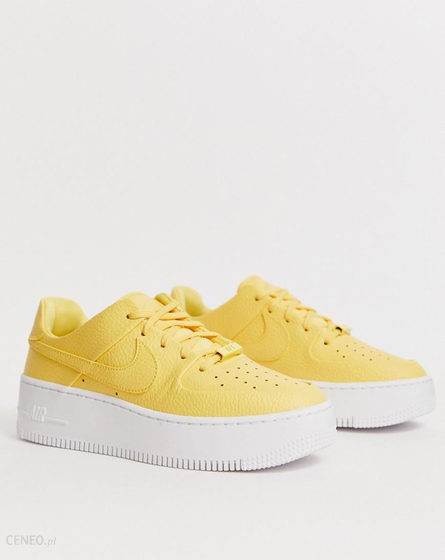 Nike Yellow Air Force 1 Sage Low Trainers Yellow