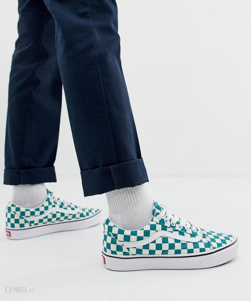 Vans Comfycush Old Skool checkerboard trainers in green Green