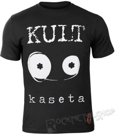 S.P. RECORDS KOSZULKA KULT - KASETA CZARNA - Ceny i opinie T-shirty i koszulki męskie QGOY