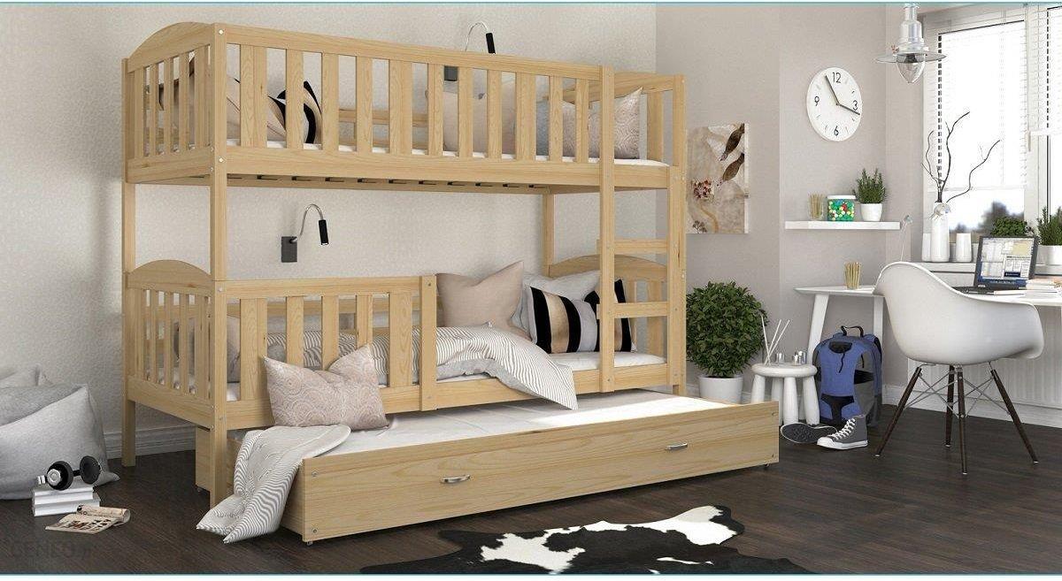 Spokojne Sny łóżko Piętrowe Kubuś 3 Sosna 90x200cm Ceny I Opinie Ceneopl