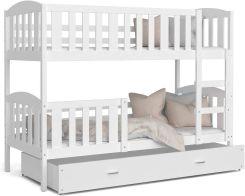 Spokojne Sny Kubuś łóżko Piętrowe Dla Dzieci Biały 90x200cm Ceny I Opinie Ceneopl
