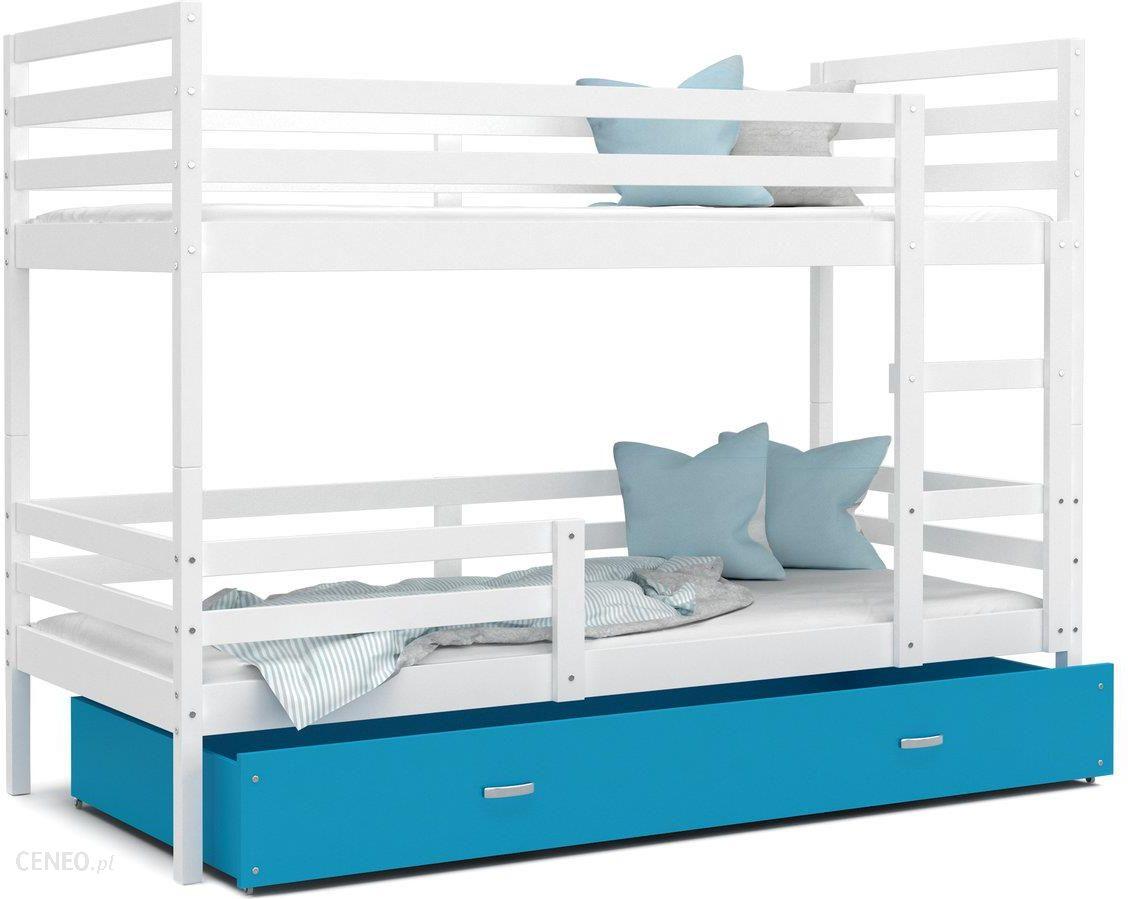 Spokojne Sny Jacek łóżko Piętrowe Biały Niebieski 80x160cm Ceny I Opinie Ceneopl