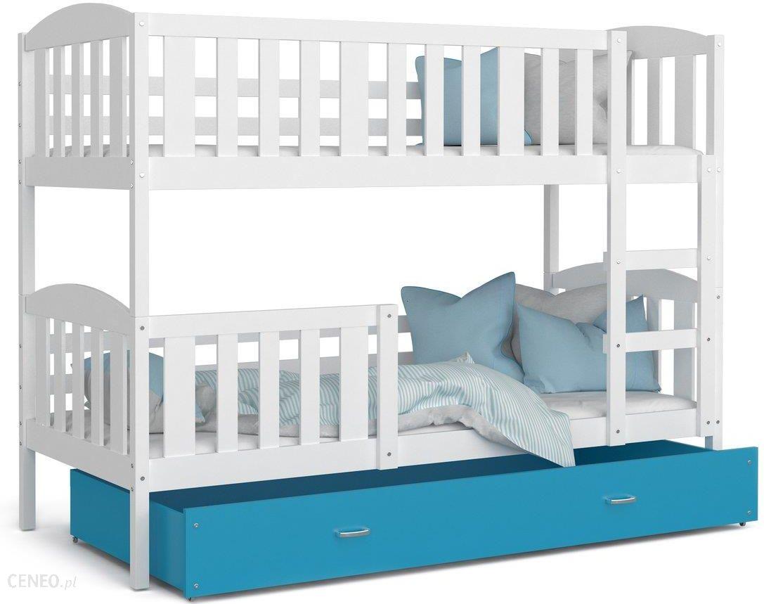 Spokojne Sny Kubuś łóżko Piętrowe Dla Dzieci Biały Niebieski 90x200cm Ceny I Opinie Ceneopl