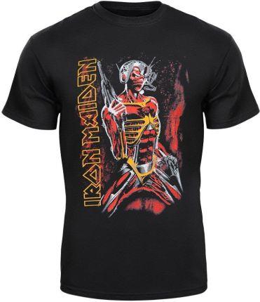 MERCHANDISE ROCK'N'ROLL MANIA KOSZULKA IRON MAIDEN - SOMEWHERE IN TIME - Ceny i opinie T-shirty i koszulki męskie VYQA