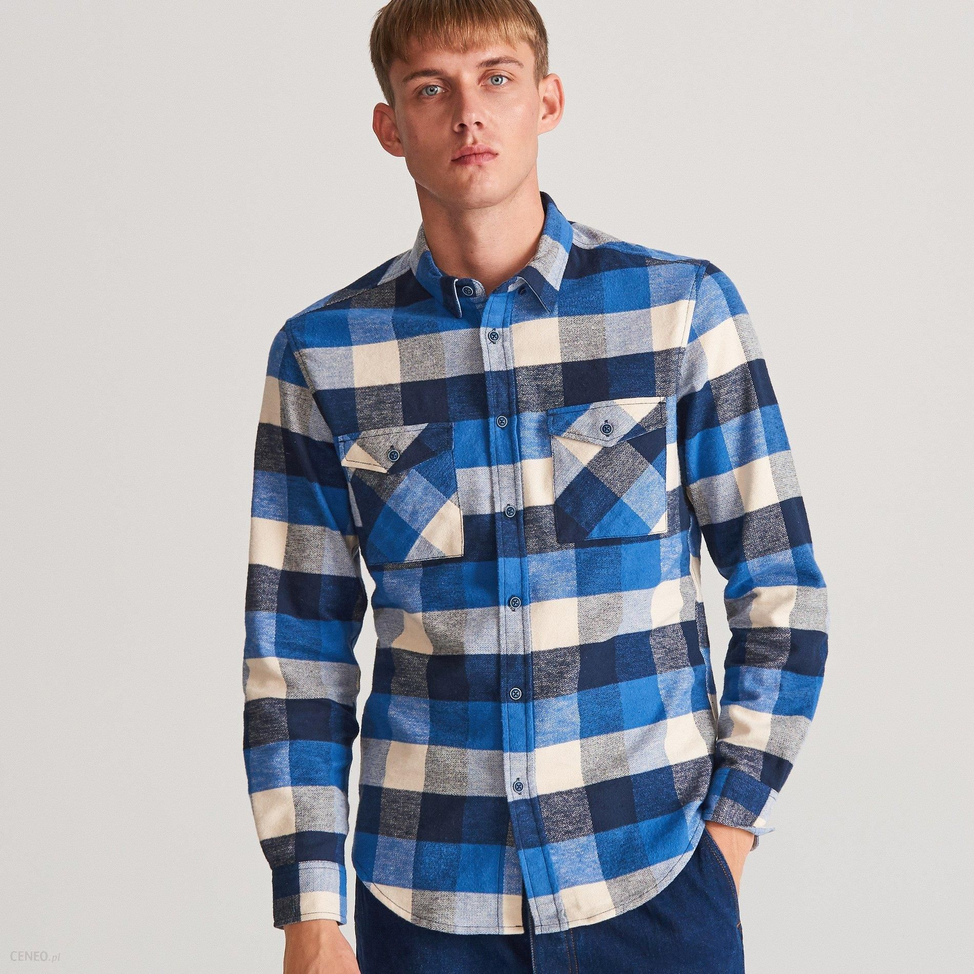 Reserved Koszula w kratę Niebieski Ceny i opinie  vZn7S