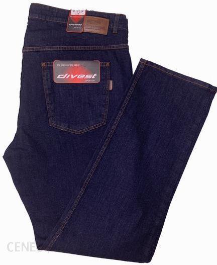 Divest spodnie długie jeansowe Model 510 12634 Ciemny Jeans Bawełna Lycra Ceny i opinie Ceneo.pl