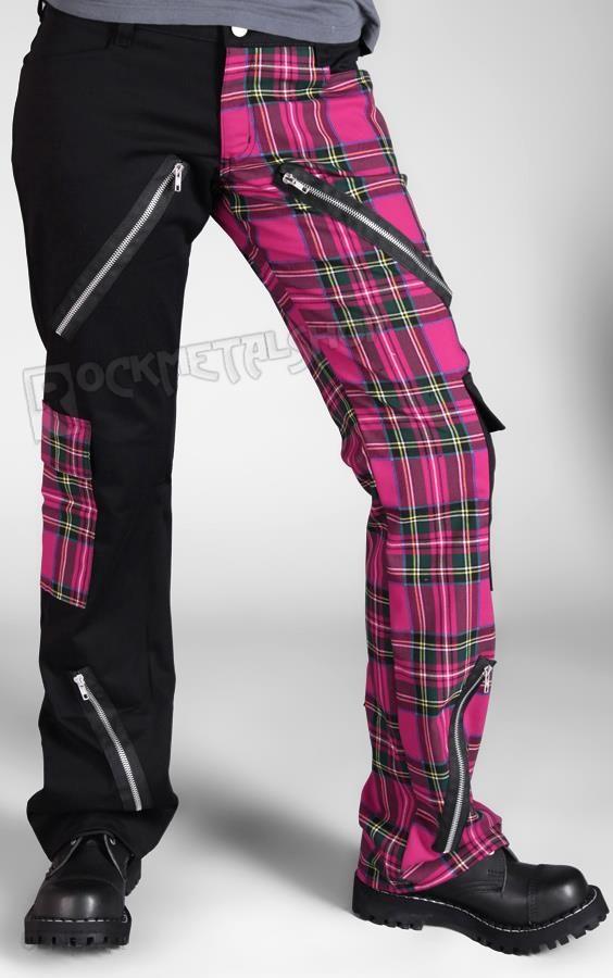 Aderlass Spodnie Damskie Freak Pants Tartan Black Pink Ceny I Opinie Ceneo Pl