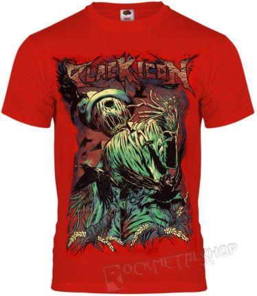 BLACK ICON KOSZULKA - SCARECROW (MICON154 RED) - Ceny i opinie T-shirty i koszulki męskie RPUQ