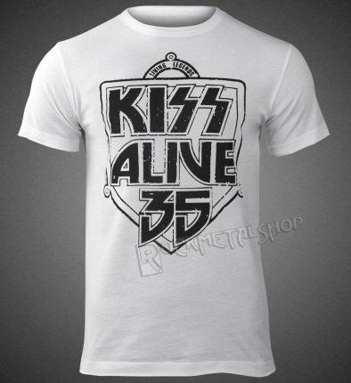 AMPLIFIED KOSZULKA KISS - ALIVE 35 WHITE - Ceny i opinie T-shirty i koszulki męskie MYTU