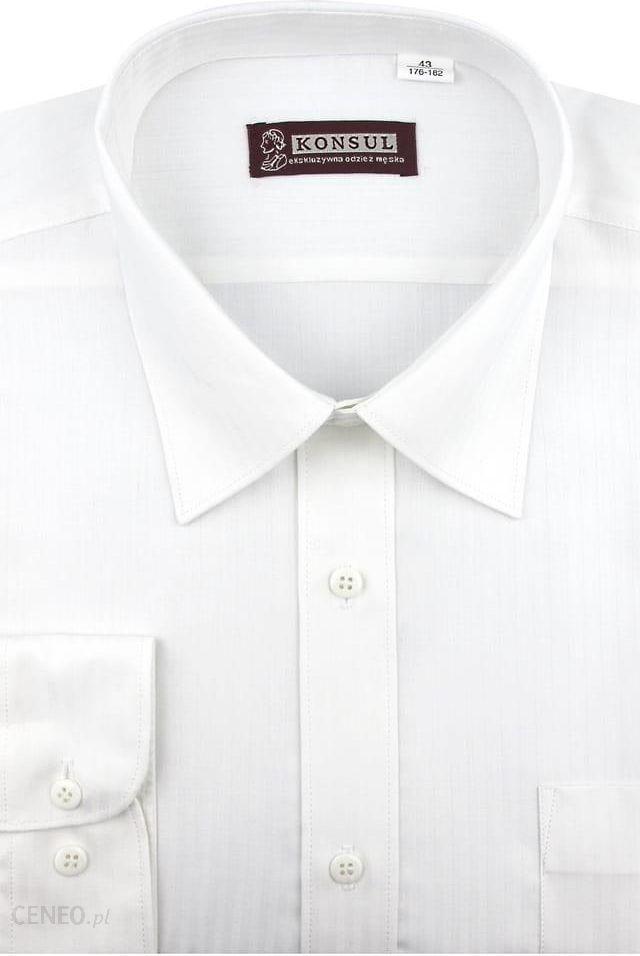 Koszula Męska Konsul błękitna w paski na długi rękaw w kroju