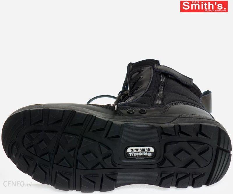 obuwie taktyczne SMITH'S SWAT czarne 8 dziurkowe + suwaki