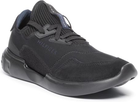 Sneakersy TOMMY HILFIGER - Corporate Mix Modern Runner FM0FM02382 Black 990