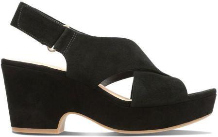 Sandały damskie Clarks Cammy Pearl Black Leather czarne