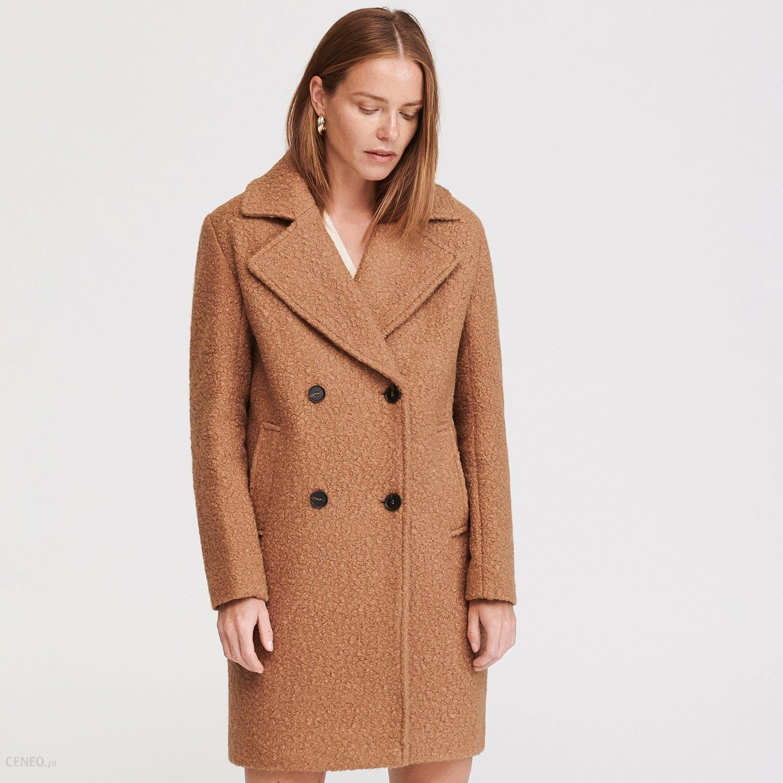 Wełniany płaszcz z paskiem I Płaszcz EMOI I Klasyczny
