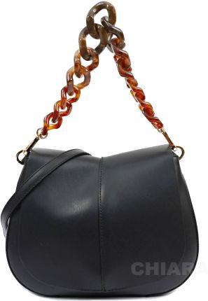 Hairoo Pacco bag czarna torebka z dodakowym długim paskiem