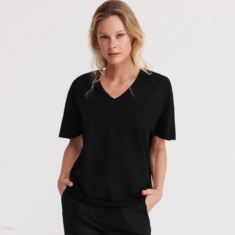 Reserved T shirt oversize Czarny Ceny i opinie Ceneo.pl