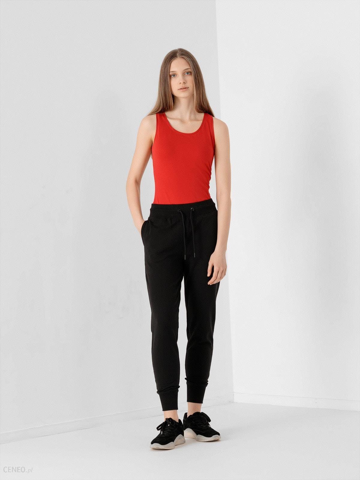 4F Spodnie Dresowe Damskie Spdd300 Czarny Czarny