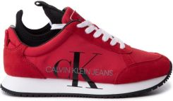 Buty sportowe damskie Calvin Klein Jeans Josslyn czerwone