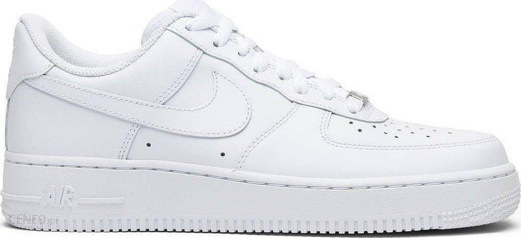 Buty Nike Air Force 1 (GS) dziecięce całe białe niskie All