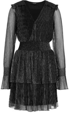 Mohito Szyfonowa sukienka mini Czarny Ceny i opinie