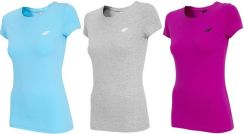Zestaw trzech koszulek damskich H4Z19 TSD001 4F (błękitna