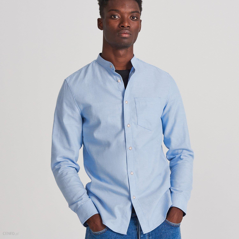 Reserved Koszula slim fit ze stójką Niebieski Ceny i  Dtlv7