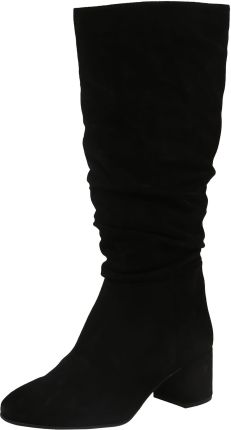 Högl – Kozaki za kolano ze skóry welurowej – Czarny